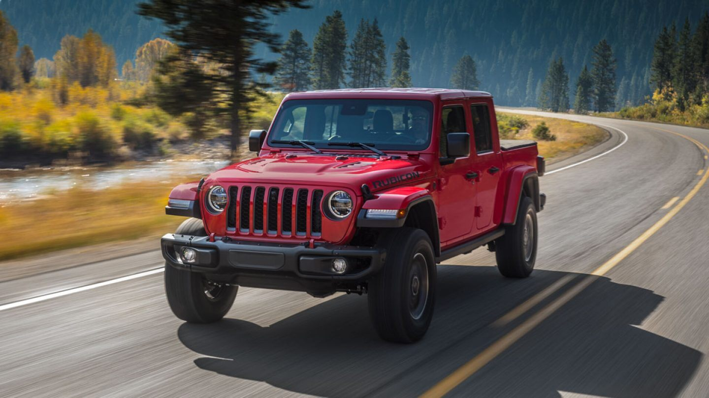 2020 Jeep Gladiator Rubicon Red Exterior Front View