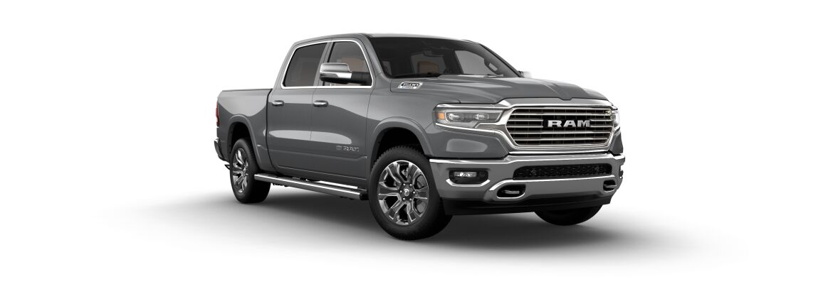2021 Ram 1500 Limited Longhorn Silver Front Exterior